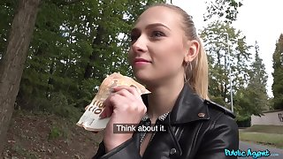 Astute POV action for cash with a sensual Czech teenager