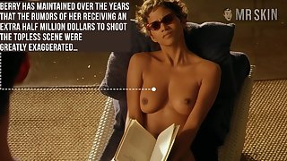 Halle Berry reading book concerning her bowels out and that woman is stupid hot