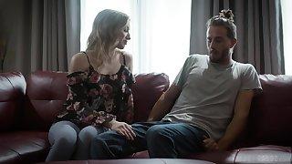 Beastlike lovemaking in a catch livingroom with long hair Riley Reyes