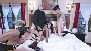 Undecorated role play with score scenes for rub-down the horny lovers