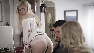 Spreading legs blonde babe Kenzie Taylor enjoys kinky ecclesiastic