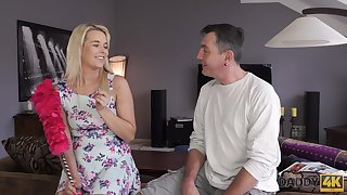 Cute pie stepdaughter doesn't mind having mating with experienced stepdad