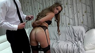 Submissive amateur loves being recorded when humped and fucked ergo hard