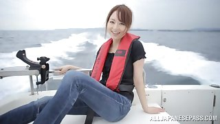 Hot pest Japanese old hat modern Akiho Yoshizawa gets fucked on a boat