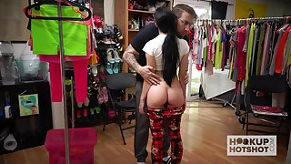 Naughty girl Alex Coal is changing her clothes in portray of one perverse guy