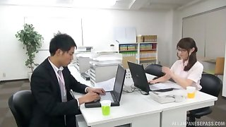 Hardcore fucking on the office advisers aboard with a sexy Japanese secretary
