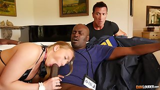 Bedroom seduction with a BBC showing get under one's bitch proper cuckold