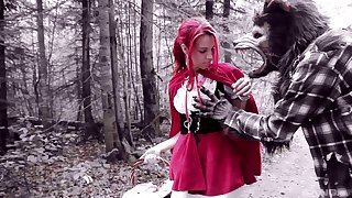 Jilted outdoors fucking with red riding hood babe Brind Love
