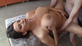 Sensual Jane - Dazzling Milf With Heavy Natural Boobs In Sauna