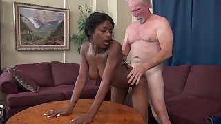 Evil old chap - old and young interracial hardcore with perky tits ebon and grandpa