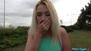 Young American slut gets picked up plus shagged outdoors