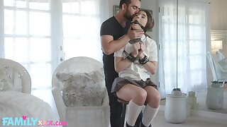 Deviating babe Megan Marx tied encircling and fucked by her sweltering steady old-fashioned