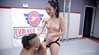 Avery Jane Vs Avery Black In Ballpark Lesbian Wrestling