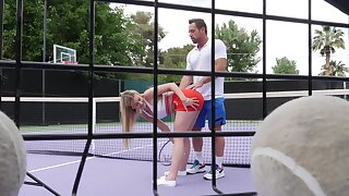 Outdoor sexual fun after a intense tennis game