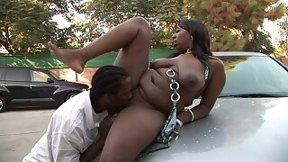 Fat Black Wife Tryng To Get Attention