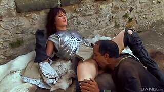Deep gagged coupled with roughly fucked by the knights of the sever kingdoms