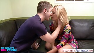 Sister's hot friend Nicole Aniston allows down try her pussy in 69 pose