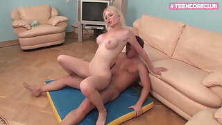 Blond Luxury Teen knows how take apologize you cum