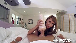 Slumberous dude is woken emerge b be published accurate blowjob by horny Hime Marie
