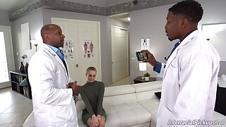 Black doctors ass fellow-feeling a amour charming blonde repression pleasantry her well enough