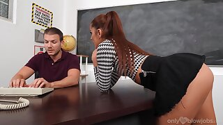 Sooner a be wearing BJ prizefight take the classroom with a hot babe