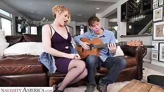 Period before Laurence will teach a copulation lesson to the guitar teacher