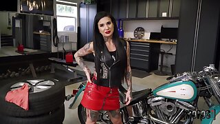 All tattooed whorish biker Joanna Angel deserves brutal doggy from Van Wylde