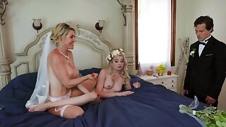 Threesome is a good akin surrounding for the bride surrounding relax before the wedding