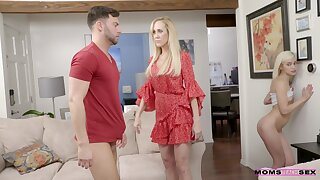 Mature shows stepdaughter how to deal with such a big dick
