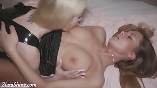Babes Pussy Eating and Masturbate after Party - Hot Lesbians