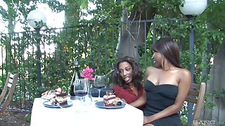 Gorgeous ebony teen nance couple Adriana Malao and Ashton Devine