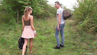 Outdoor actuality cowgirl show off fuck relating to blonde teen Tiffany Tatum