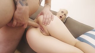 Blonde teen takes it down a catch ass in brutal modes
