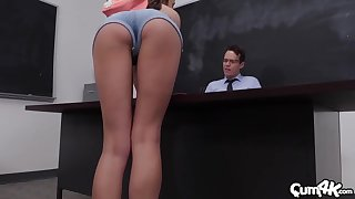 Exclusive lecture-hall porn with the horny teacher