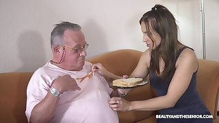Older guy got lucky and banged hot innocent chest Azure Angel