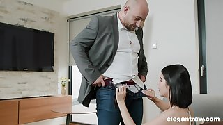 Hardcore mouth increased by pussy fucking ends with facial for Lady Dee