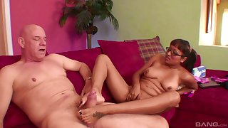 Erotic fantasy sex for the slutty mature damper a big oral