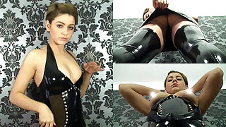 Pixie in Hyacinthine Dress and Stockings - LatexHeavenVideo
