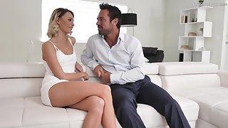 Hot blond babe Emma Hix is having crazy sexual congress enjoyment with handsome boyfriend Johnny Castle