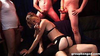 Nasty skimp loves to kitchen garden his slutty wife with his friends