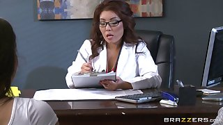 Nice trinity at along to office with babes Akira Lane and Lola Foxx