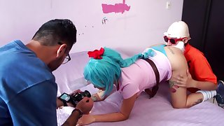 Behind the scenes of a porn scene, Dragon Dancing party porn parody