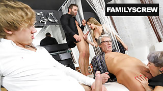 Family visits a Swingers Club for get under one's First Time