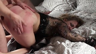 Mature loads her ass and pussy nigh young nephew's dick