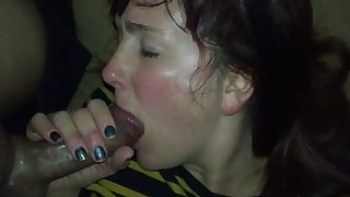 My GF has got so much engagement that she just can't stop sucking my prick
